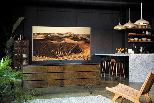 Samsung lässt neue Fernseher mit der Wand verschmelzen